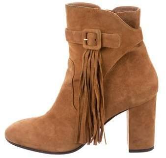 Aquazzura Tatiana Fringe-Accented Ankle Boots