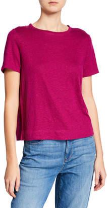 Eileen Fisher Plus Size Organic Linen Cap-Sleeve Tee