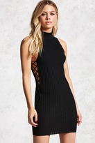 Forever 21 Ribbed Lace-Up Bodycon Dress