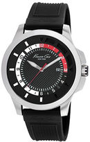 Kenneth Cole Mens Transparent Stainless Steel and Silicone Strap Watch