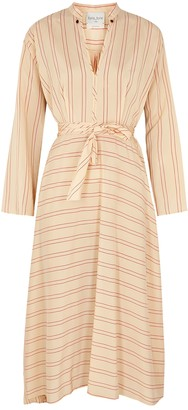 Forte Forte Striped Belted Shell Maxi Dress