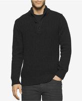 Calvin Klein Jeans Men's Racked Button Sweater