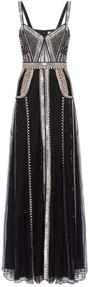 Temperley London Electra Beaded Strappy Gown