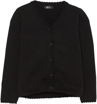 Very Girls 2 Pack Knitted School Cardigans - Black