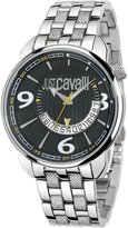 Roberto Cavalli Just Cavalli Men's Earth Analogue Watch R7253181025 with Quartz Movement, Stainless Steel Bracelet and Dial
