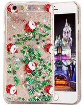 "iPhone 7 Case, PHEZEN Christmas Tree Santa Claus Design Cool Quicksand Moving Stars Bling Glitter Floating Dynamic Flowing Case Clear Hard Case Shell Case For iPhone 7 4.7"" ?Christmas #5"