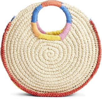 BP Rainbow Circle Straw Tote
