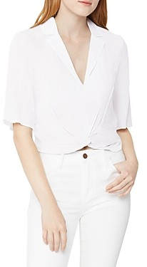 BCBGeneration Cropped Twist Front Top