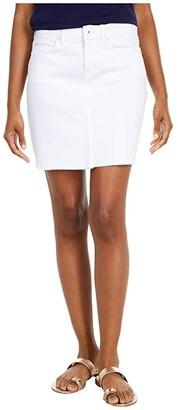 Vineyard Vines White Denim Skirt (White Cap) Women's Skirt