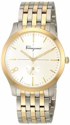 Salvatore Ferragamo Analog Quartz Watch with Stainless Steel Strap Two Tone 17.8 (Model: 7630030548437)