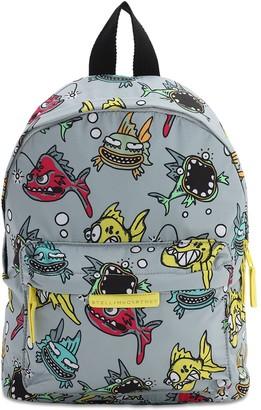 Stella Mccartney Kids All Over Print Nylon Backpack