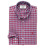 Thomas Pink Maxwell Check Slim Fit Button Cuff Shirt