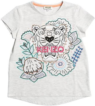 Kenzo Tiger Print Cotton Blend T-shirt