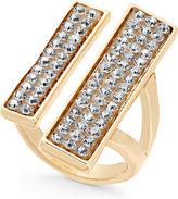 Thalia Sodi Gold-Tone Pavé Double Bar Ring, Only at Macy's