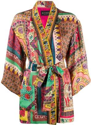 Etro Patchwork Tie Waist Jacket