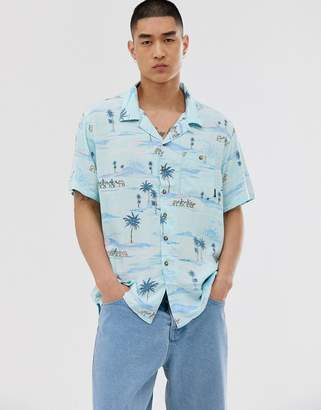 Billabong Vacay print shirt in white/print