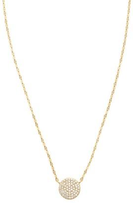 Lana 14K Gold & Diamond Flawless Mega Disc Pendant Necklace