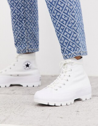 Converse white Chuck Taylor Hi Chunky Sole trainers