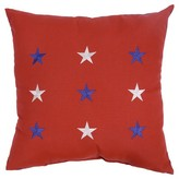 Threshold Red with Blue And White Stars Outdoor Pillow 18