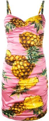 Dolce & Gabbana Pineapple Print Mini Dress