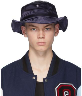 Opening Ceremony Navy Satin Bucket Hat