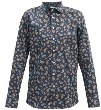 Etro Paisley-print Cotton-poplin Shirt - Navy Multi