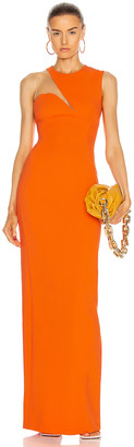 Stella McCartney Evelyn Dress in Tangerine | FWRD