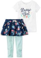 Carter's 2-Pc. Daddy's Girl T-Shirt & Tutu Leggings Set, Baby Girls (0-24 months)