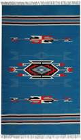 Karma Living Hand-Loom Chimay Design Handmade Cotton and Wool Rug