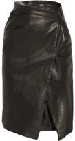 Vetements Wrap-effect Leather Pencil Skirt - Black