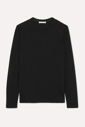 Ninety Percent + Net Sustain Faye Organic Cotton-jersey Top - Black