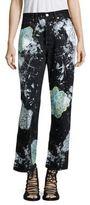 Rialto Jean Project Vintage 501 Splatter Floral Boyfriend Jeans
