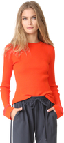 Diane von Furstenberg Crew Neck Fitted Sweater