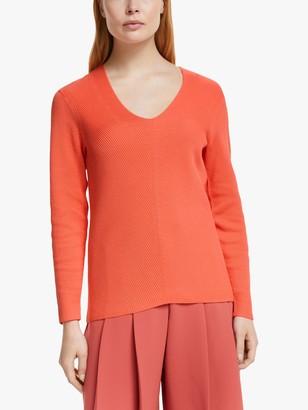 John Lewis & Partners Cotton V-Neck Sweater