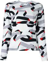 MSGM printed ribbon design blouse
