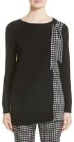 St. John Women's Asymmetrical Jersey Knit Sweater