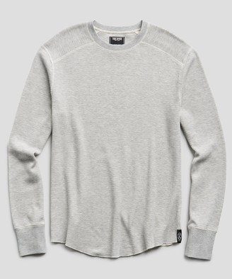 Todd Snyder Thermal Crew in Grey Heather