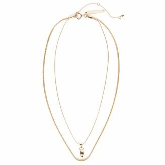 Rebecca Minkoff Multi Strand Necklace Gold One Size