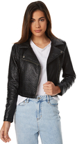 Swell Vegan Leather Biker Jacket Black