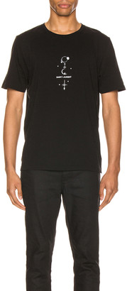 Saint Laurent Graphic Tee in Black & Natural | FWRD