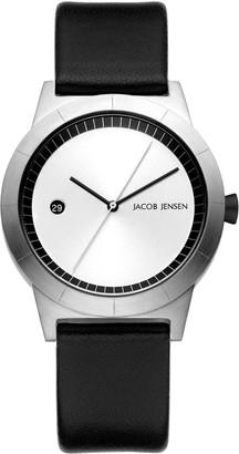 Jacob Jensen Womens Analogue Classic Quartz Watch with Leather Strap JJ150