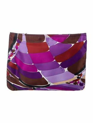 Emilio Pucci Abstract Zip Pouch Purple