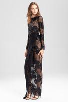 Josie Natori Lace Long Twist Dress