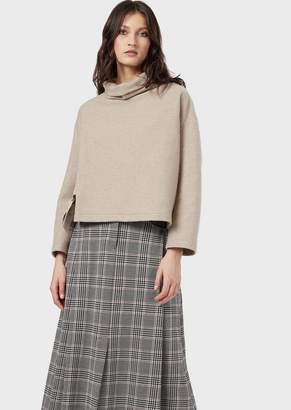 Giorgio Armani A Sweatshirt With A Wide Neck And Ottoman Bow