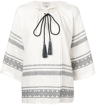 ZEUS + DIONE Aegina embroidered blouse
