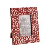 Mela Artisans Starshine Frame 4x6 in Marsala Red