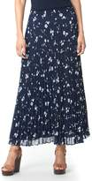 Chaps Women's Floral Pleated Skirt