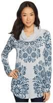 Roper 1302 Heather Grey Sweater Jersey Tunic Women's Long Sleeve Pullover