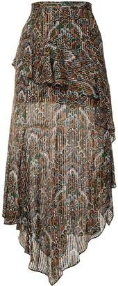 Veronica Beard Paisley Midi Skirt