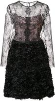 Nha Khanh lace overlay dress